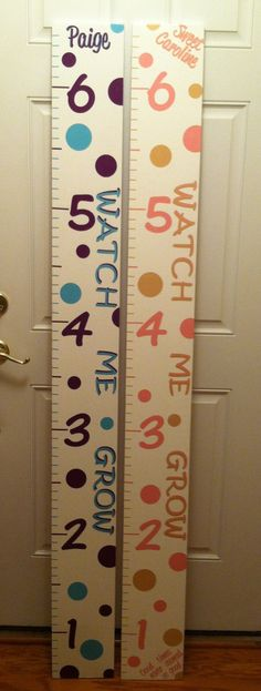 Polka+Dot+Wood+Ruler+Growth+Chart+by+LindsayLettering+on+Etsy,+$55.00
