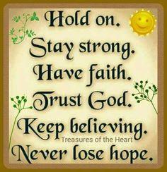 Hope, Faith, Trust Amen