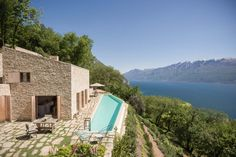 Stone clad retreat with breathtaking views of Lake Garda, Italy