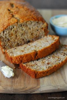 This Easy Banana Bread recipe has a secret ingredient that makes it moist: Miracle Whip! It's a great way to use ripe bananas and your family will love it! Moist Banana Bread, Banana Bread Recipes, Banana Bread Recipe With Shortening, Brunch Recipes, Sweet Recipes, Dessert Recipes, Delicious Desserts, Yummy Food, Mac And Cheese Homemade