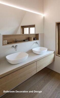 Salle de bain ambiance zen: 5 onmisbaar - Clem Around The Corner, Best Bathroom Designs, Bathroom Interior Design, Modern Interior Design, Bathroom Ideas, Design Interiors, Bathroom Organization, Bathroom Storage, Zen Bathroom Design, Budget Bathroom
