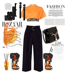 """Orange"" by daisy-schilder ❤ liked on Polyvore featuring Heron Preston, River Island, Alexander Wang, Ÿù, Whiteley, The Merchant Of Venice and orange"