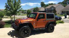 Jeep 2 door orange wrangler