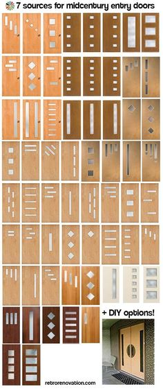 Doors galore - 8 places to find midcentury modern entry doors + DIY tips