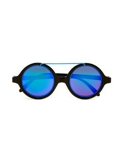 6b80ba5f2fd Blue Cloud Round Frame Sunglasses