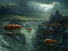 Image result for steampunk landscapes