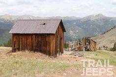 Old abandoned buildings on Iron Chest Trail, Buena Vista, CO