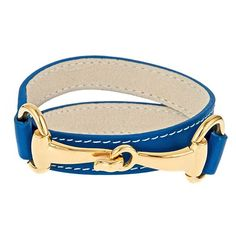 Derby Bracelet – Blue ...Okay, that's cute. And I LOVE the color. :)