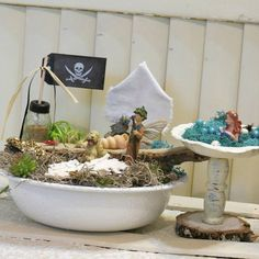 Check out this item in my Etsy shop https://www.etsy.com/listing/523724953/complete-fairy-garden-kit-with-container