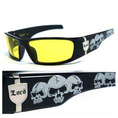 a4d0035409 9.95AUD - Locs Sunglasses Sports Gangster Glasses Thug Biker Uv Protect  Yellow Lens Lc55