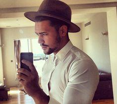 White shirt hat beard men Style tumblr