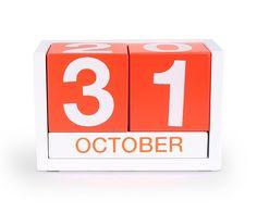 Block Calendar in Orange