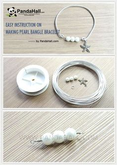 Do you wanna create your own diy pearl bangle? If yes, this jewelry making tutorial on making pearl bangle bracelet in an easy way is for you. You just need to prepare pearl beads, aluminum wire,...