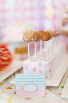Donut holes- we already have pop stands!