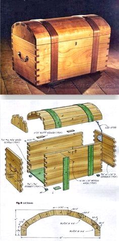 Keepsake Trunk Plans - Woodworking Plans and Projects | WoodArchivist.com #woodworkingtips #WoodworkPlans