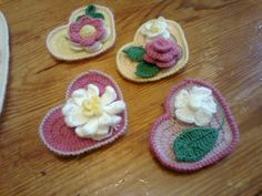 Crochet Flowers and Hearts   Flickr - Photo Sharing!