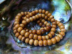 8mm Round Bone Beads, Handcrafted Golden Orange Color, Boho Native Tribal…