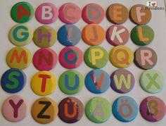 Alphabet+Set-Magnete-50mm+Set-Magnettafel-bunt+von+Buttons&Books+auf+DaWanda.com