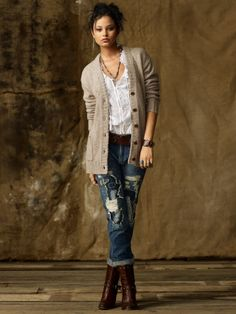 "Great cozy winter cardigan.  I think I like this ""Denim & Supply"" line from RL."