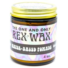 Rex Wax Original Water Based All Natural Heavy Hair Pomade 4oz