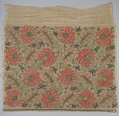 Metropolitan Museum of Art Textiles: Towel end, 19th century, Turkey, linen, silk, metal wrapped thread; plain weave, embroidered