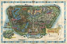 Vintage disneyland goodies 1958 disneyland map yes the rare a disney history institute the cartography of disneyland maps gumiabroncs Image collections