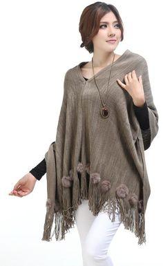 Women Autumn New Style OL Wraps Loose Bat-wing Sleeve Knitting Sweater Light Grey One Size @WH0212lg
