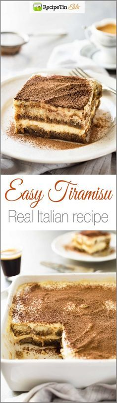 Easy Tiramisu (with VIDEO) - Authentic Italian recipe, super easy, rich and yet light at 270 cal per serving!