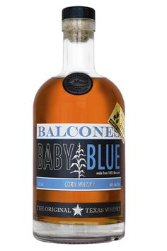 Balcones Baby Blue Corn Whiskey.Whiskey distilled from blue corn? Yes! Balcones produces a unique, cutting-edge product.| spiritedgifts.com Whiskey Drinks, Bourbon Whiskey, Whisky, Vodka Bottle, Whiskey Bottle, American Corn, Small Batch Bourbon, Distillery, Baby Blue