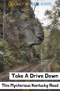 Take a scenic drive down this spooky country road in Kentucky. You'll find unique rock formations, an eerie tunnel, beautiful river views, and more. Kentucky Attractions, Kentucky Vacation, Travel Tours, Travel Usa, Travel Ideas, Weekend Trips, Day Trips, Places To Travel, Places To See