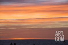 USA, California, Sunset, Pacific Ocean Photographic Print by John Ford at Art.com