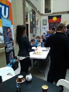 Greg Combet book launch, Trades Hall atrium, August 2014
