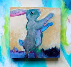 Little Rabbit Greets the Morning Kerri Blackman https://www.etsy.com/listing/187815705/rabbit-totem-animal-painting-small?ref=shop_home_active_6