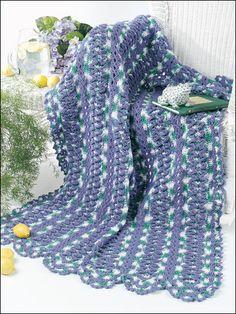Ruffled Strips Afghan » Crochet Pattern