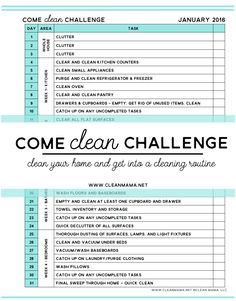 Ready for a cleaner home in 2016? Join this challenge for daily help and FREE printable to help you succeed.