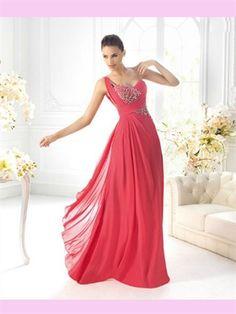 A-line one-shoulder beaded chiffon red 2013 prom Dresses Stylish Dresses, Women's Fashion Dresses, Nice Dresses, Girls Dresses, Bridesmaid Dresses, Prom Dresses, Formal Dresses, Dresses 2014, Long Dresses