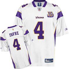 07ae9ae67 Reebok NFL Equipment Minnesota Vikings Brett Favre White Replica Football  Jersey - Deals on - NFL Apparel Minnesota Vikings Heathered Coupons
