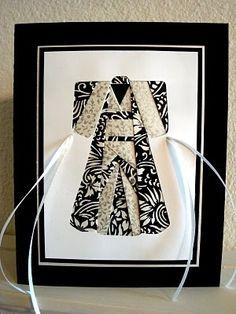 Iris Folding Kimono card by Sirik