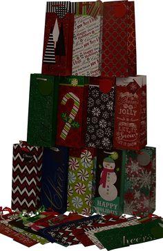 Assorted Christmas Kraft paper wine bags