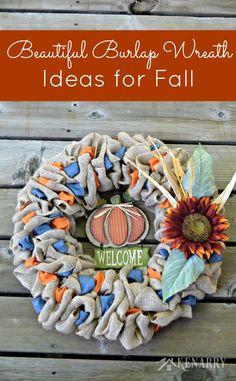 Kenarry fall burlap wreaths 3 beautiful diy craft ideas great burlap