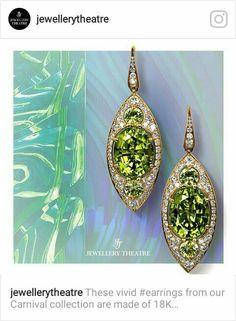 Jewelery Theatre peridot and diamonds earrings