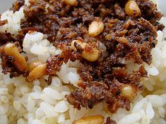 furikake Recipe: Sardines and Pine Nuts.  Side or accent keto recipe.