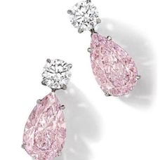 Pink and white cz earrings. - Pink and white cz earrings. Pink and white cz earrings. Saphir Rose, Bling Bling, Mode Rose, Diamond Tops, Women's Earrings, Pink Diamond Earrings, Chandelier Earrings, Platinum Earrings, Dainty Earrings