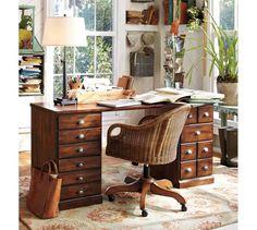 printers rectangular desk set pottery barn bennington ethan allen desk