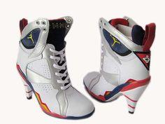 Air Jordan 7 high heels