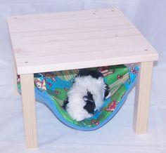 Hängematte u.Holzgestell,Meerschweinchen,Teddys von Lazzyy's Kuschelshop auf DaWanda.com