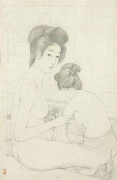 Goyo Hashiguchi (1880-1921) Two Women In A Bath (52,6 x 35cm)