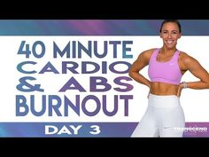 40 Minute NO Equipment Cardio and Abs Burnout Workout | TRANSCEND - Day 3 - YouTube Hiit Workout At Home, 10 Minute Workout, Workout Videos, Cardio, Hiit Elliptical, Tabata, Killer Workouts, Fun Workouts, Weekly Workout Plans