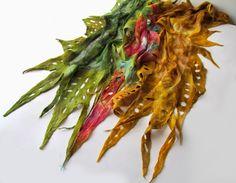 Filcem malowane  Felt painted: New spring scarves