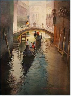 Gorgeous painting of Venice, looking forward to going there this summer.